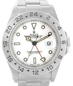 Rolex Rolex Explorer II White Dial Steel Mens Watch 16570