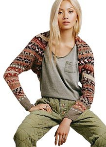 Free People Shrug Warm Color Cardigan