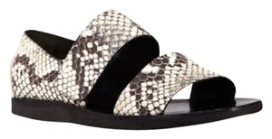 Vince Snake And Black & White Sandals