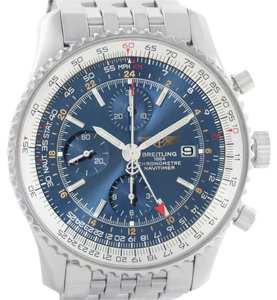 Breitling Breitling Navitimer World GMT Chronograph Blue Dial Watch A24322 Box