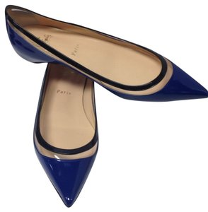 Christian Louboutin Black and blue Flats