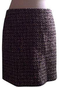 J.Crew Skirt Tweed Gray Metallic