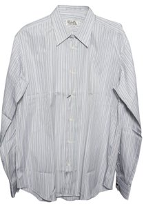 Herms Hermes Stripe Mens Button Down Shirt Multicolor