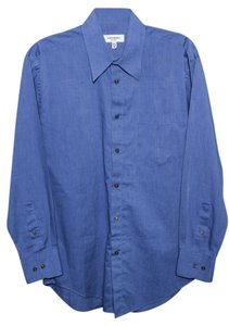 Saint Laurent Button Up Button Down Shirt Blue