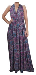 Purples & Blues Maxi Dress by Other Kaftan Sleeveless Summer