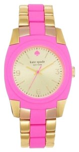 Kate Spade Kate Spade Skyline Pink & Gold Watch