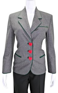 Moschino Wool Gray Blazer