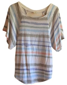 Free People Top Cream Colored with Multi Color Stripes