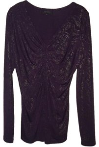 Karen Kane Gathering Rouching Holidays Irridescent Sweater