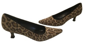 Salvatore Ferragamo All Animal Print Italian $55 Price Drop 3 shades of brown suede leather Pumps