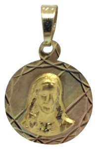 Other 14K Tri-Color Reversible Religious Pendant