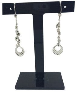 Other 14K White Gold diamond Cut Dangling Earrings
