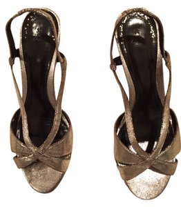 Zara Silver Shiny Sandals