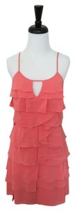 BCBGMAXAZRIA short dress Coral Bcbg Max Azria Silk on Tradesy