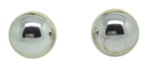 Other 14K White Gold Plain Ball Stud Earrings ~5.90mm