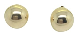 14K Yellow Gold Plain Ball Stud Earrings ~5.90mm