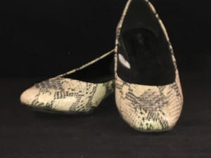 Mossimo Supply Co. Decorated Faux Snakeskin Comfortable Black & White Mules