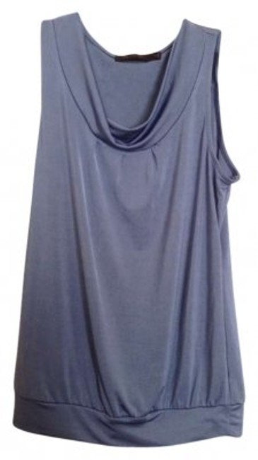 Preload https://img-static.tradesy.com/item/147966/the-limited-blue-gray-sleeveless-cowl-banded-stretch-blouse-size-0-xs-0-0-650-650.jpg