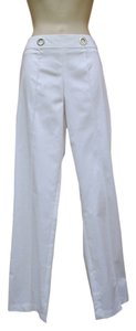 Vex Stretch Grommet Summer Spring Straight Pants White