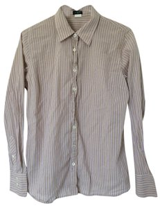 J.Crew Button Down Shirt Purple and Beige Stripe