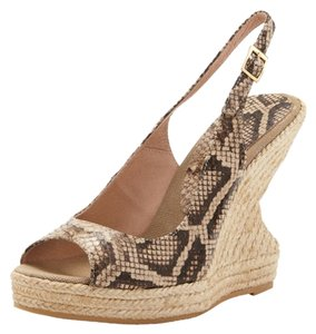 Andre Assous Natural Python Wedges