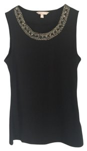 Banana Republic Beaded Top black
