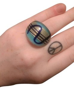 Handmade Blue glass ring