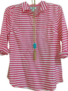 Old Navy Xs New Top Hot pink stripes
