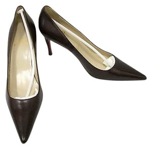 Christian Louboutin Pointed Toe Burgundy Pumps