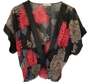 Zio Top Black Floral Multi