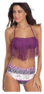 Other SUMMER CLEARANCE WAS $39.99 New Plum Fringe Bandeau Bikini