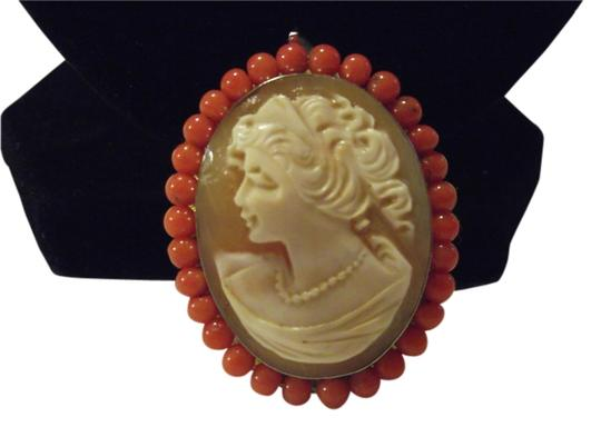 AMEDEO AMEDEO Scognamiglio 40mm Cornelian Sterling Silver Gemstone-Frame Oval Cameo Pendant