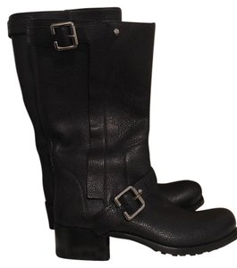 Dior Designer Biker Boot Leather Black Boots