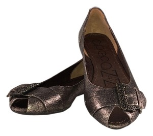 Apepazza Open Toe Brass brown metallic Flats
