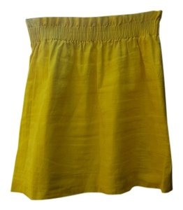 J.Crew Linen Mini Mini Skirt Canary Yellow