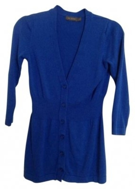 Preload https://item2.tradesy.com/images/the-limited-blue-banded-v-neck-cardigan-size-4-s-147996-0-0.jpg?width=400&height=650