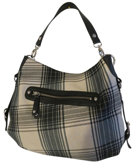 London Fog Black Roomy Reversible Hobo Bag