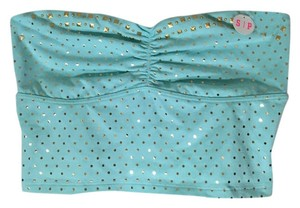 Victoria's Secret Top Turquoise and Gold