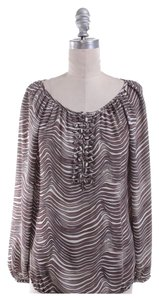 Tory Burch Top Brown/White