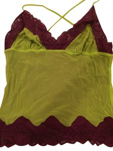 Marciano Top Burgundy And Green