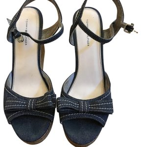 Tommy Hilfiger Blue denim Wedges