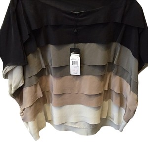 BCBGMAXAZRIA Top Black, grey, taupe, cream