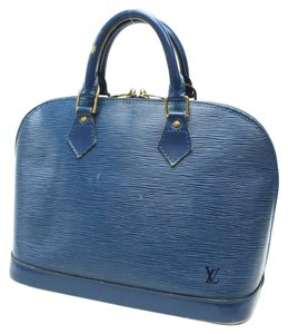 Louis Vuitton Alma Rare Lv Leather Satchel in Blue