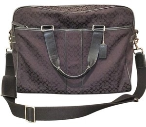 Coach Black Briefcase Messenger Bag