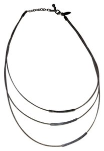 New York & Company NY Triple strand metal necklace with 3 sliding bars