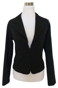 Coffee Shop Military Black Blazer