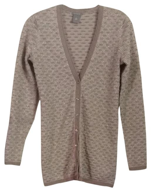 Preload https://img-static.tradesy.com/item/1480138/ann-taylor-taupe-tan-metallic-reduced-price-and-shipping-cardigan-size-4-s-0-0-650-650.jpg