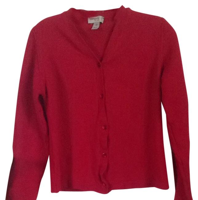 Preload https://item2.tradesy.com/images/red-cardigan-size-4-s-1480151-0-0.jpg?width=400&height=650