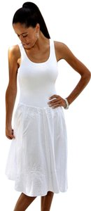 Lirome short dress White Resort Embroidered on Tradesy