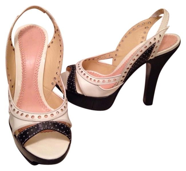 Galliano sling back open toe platforms leather and patten leather size is 38 Galliano sling back open toe platforms leather and patten leather size is 38 Image 1